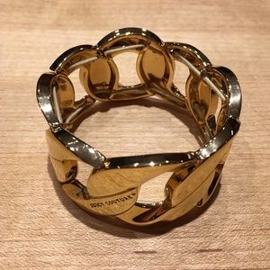 Juicy Couture Gold Stretch Chain Cuff Bracelet